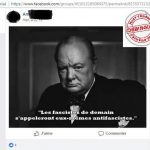 Antifa demain, Winston Churchill, fake news, hoax