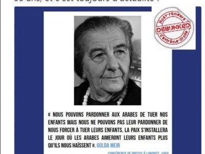 Fausse citation Golda Meir, CRIF