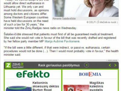 Lituanie euthanasie delfi anglais