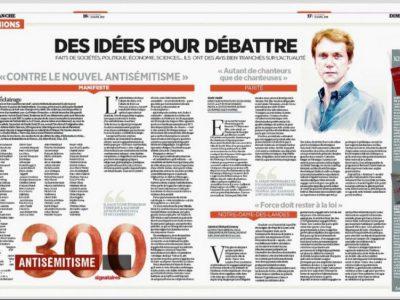 Tribune 300 Nouvel antisémitisme