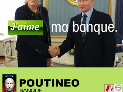 Poutinéo, j'aime ma banque (affiche parodique)