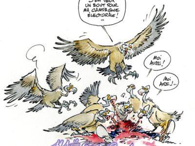 La récupération des vautours d'extrême droite