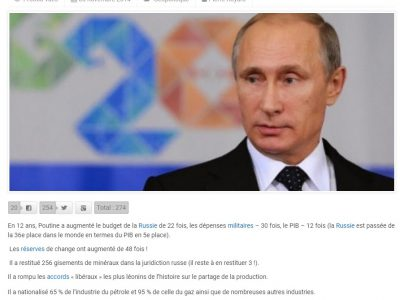 Poutine: 12 ans de gouvernance