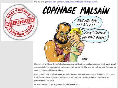 Tasin: homosexualité de macron