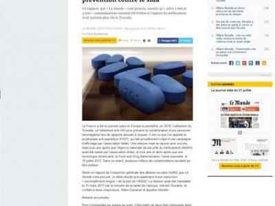 Fausse affaire VIH Préservatif, Le Monde