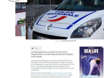 Faux viol de Limay rectificatif Le Parisien