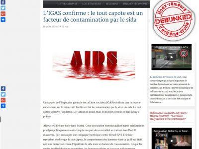 Fausse affaire VIH Préservatif, Reinformation TV