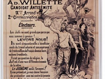 Willette candidat antisémite 1889