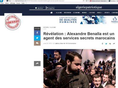 Benalla est un espion marocain!!!