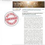 Fausse affaire VIH Préservatif, salon beige