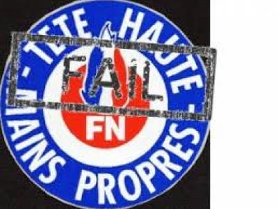 """Slogan FN: """"tête haute et mains propres"""""""