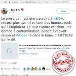 Fausse affaire VIH Préservatif, twitter