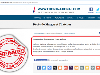 Condoléances Thatcher
