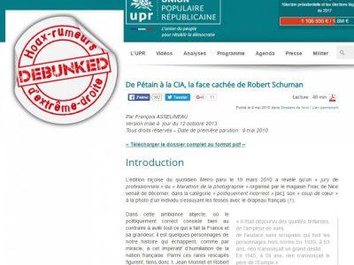 UPR: De Pétain à Schuman