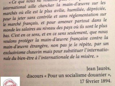 """Jaurès """"extrait du discours sur le capitalisme douanier"""""""