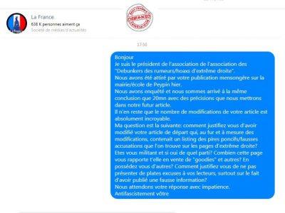 """Message privé administrateur """"La France"""""""