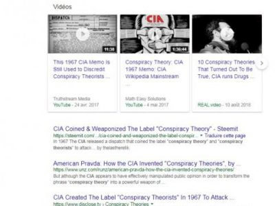 """conspiracy theory"" google"