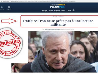Le Figaro-Affaire Tron