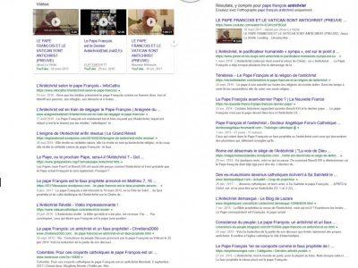 Pape antéchrist google