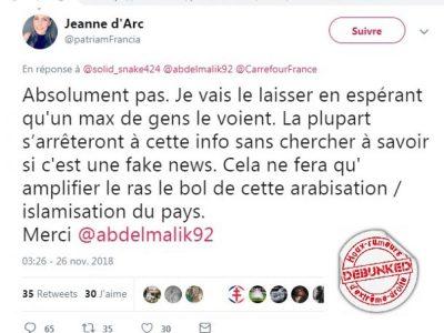 """carrefour arabe""-Fake News au RN"