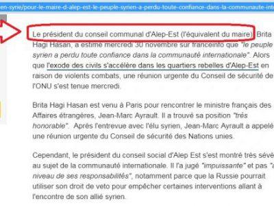 Alep Est France Info