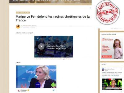 """Les """"racines chrétiennes"""" selon Le Pen sur le """"Salon Beige"""""""