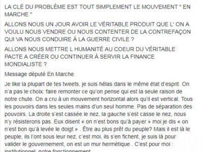 Un député LREM écrit à Chalençon