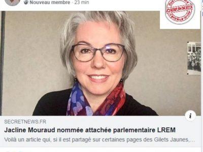 #FakeNews Mouraud entre à LREM