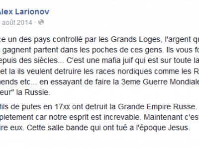 Alex Larionov, candidat FN-RN