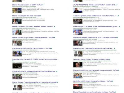 Chouard: vidéos sur les antifas