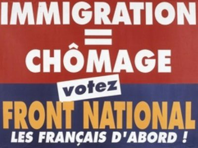 Immigration=chomage affiche FN