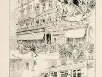 Les troubles de Lyon, L'Illustration, 30 juin 1894 © Musée national de l'histoire et des cultures de l'immigration, CNHI.