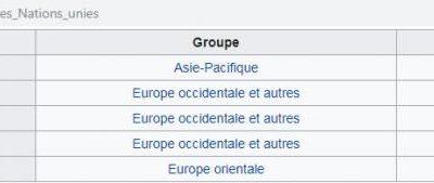 5 membres permanents du Conseil de sécurité de l'ONU