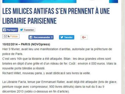 Novopress : manif antifa