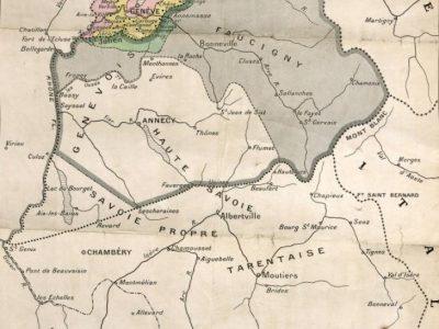 carte Savoie à la veille de l'annexion
