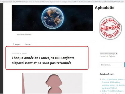 """Aphadolie"": disparitions d'enfants"
