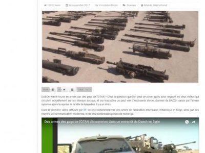 DAESH était il fourni en armes par les pays de l'OTAN ?