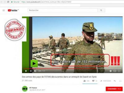 le standard OTAN est de 155 mm...