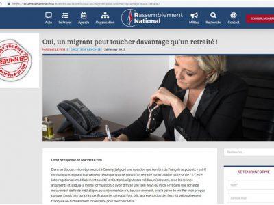Communiqué Le Pen sur les migrants
