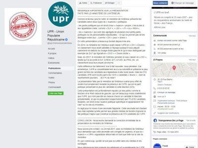Facebook UPR classement en Divers 2017