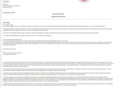 Légifrance Décision du Conseil d'Etat concernant l'UPR