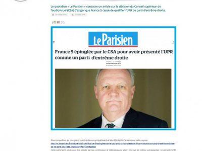UPR Article Le Parisien