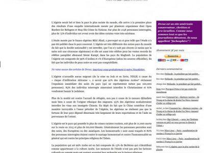 Faux article d'Africa24 repris par Dreuz