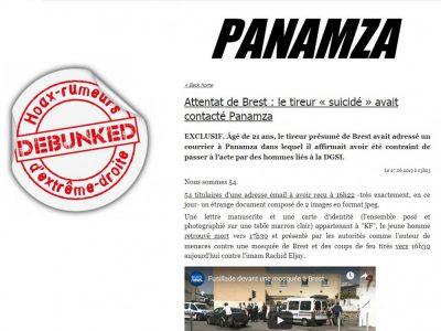 Panamza: lettre du tireur de Brest