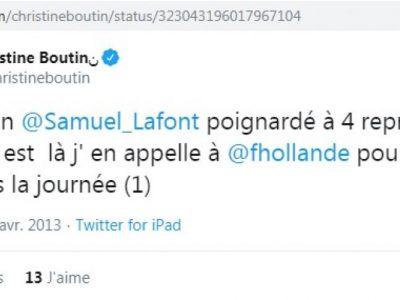 Les sanglots de C. Boutin