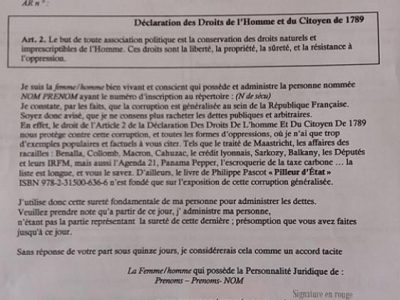 Document modèle de contestation.