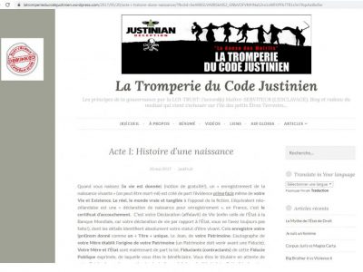 """le site dédié: """"Justinian deception"""""""